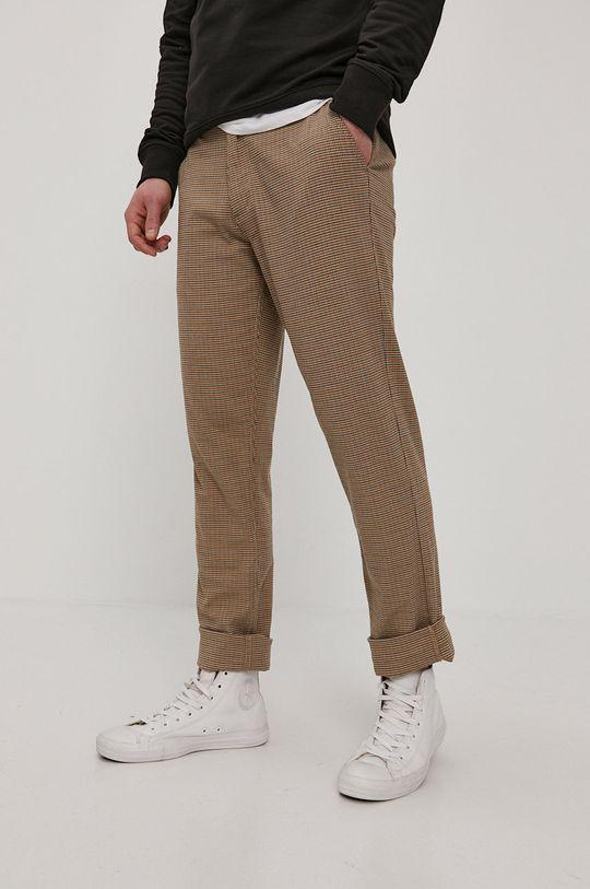 brązowy Brixton - Spodnie Męski