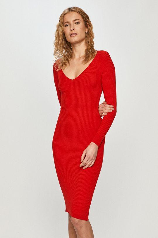 czerwony Silvian Heach - Sukienka Damski