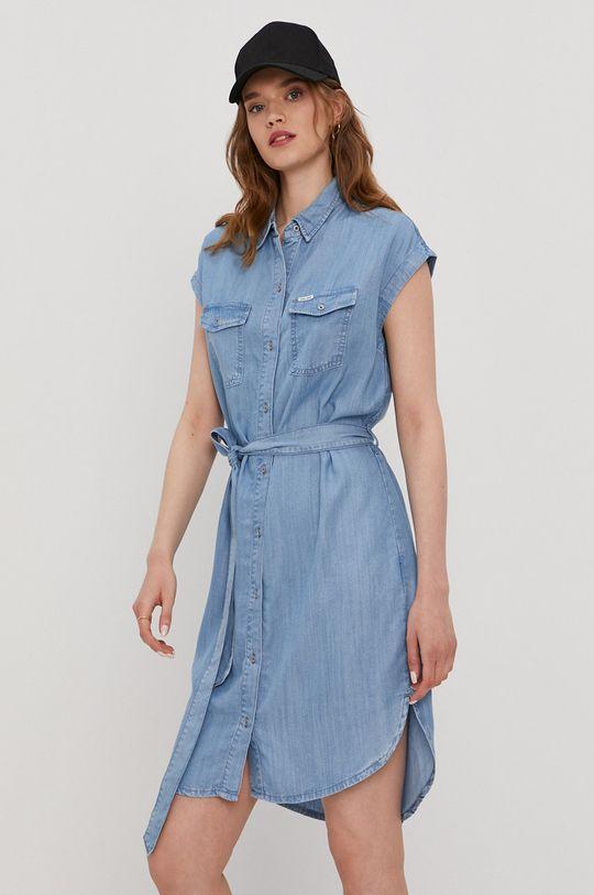 niebieski Cross Jeans - Sukienka Damski