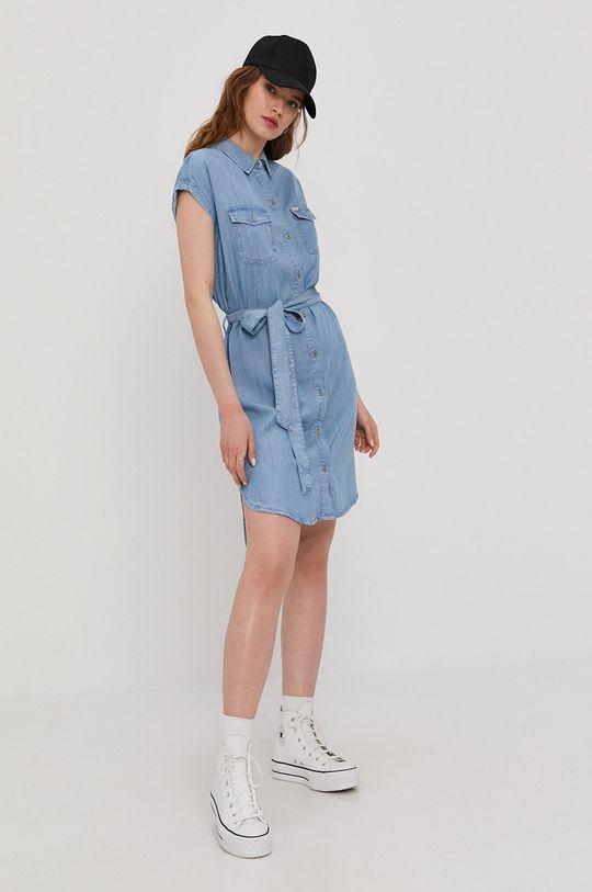 Cross Jeans - Sukienka niebieski