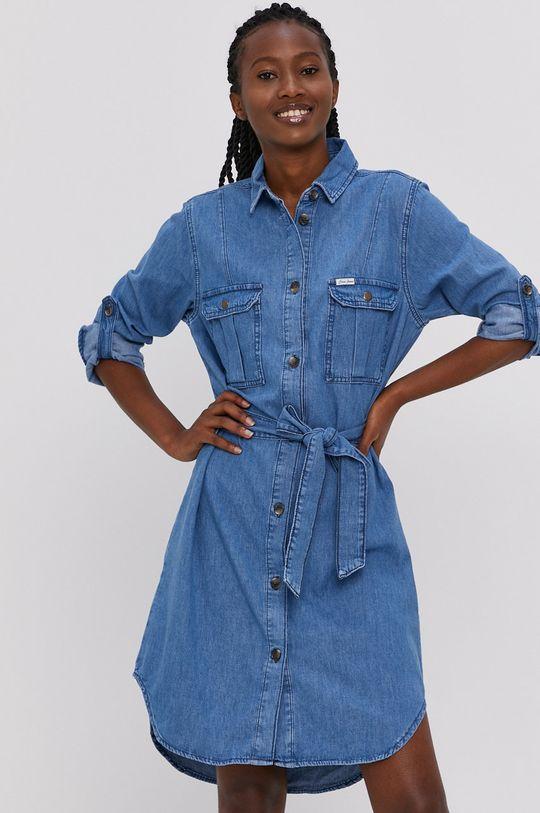 niebieski Cross Jeans - Sukienka jeansowa Damski