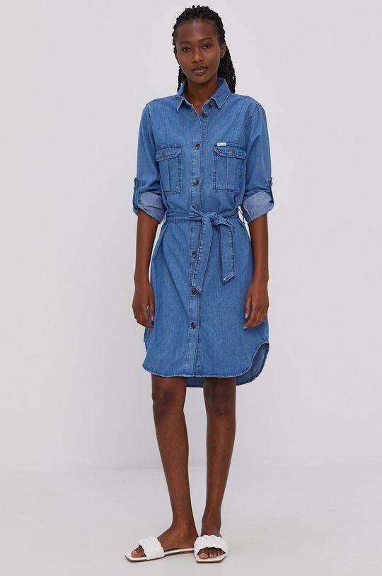 Cross Jeans - Sukienka jeansowa niebieski