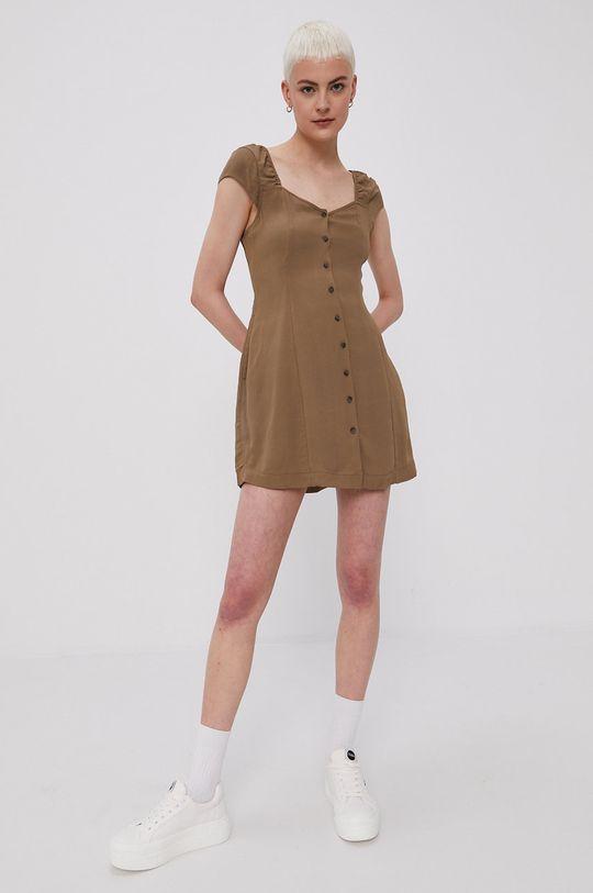 RVCA - Šaty hnedá