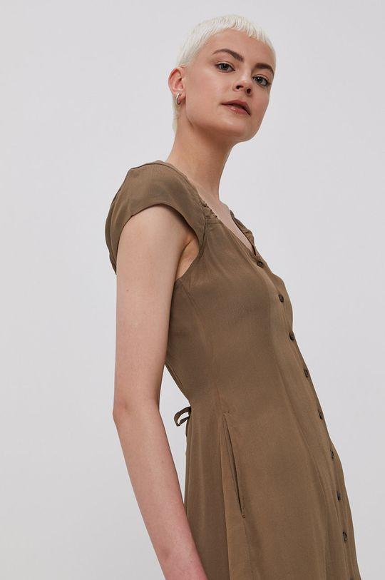 hnedá RVCA - Šaty