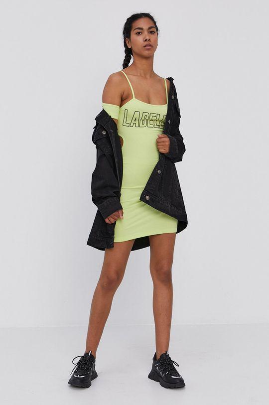 LaBellaMafia - Sukienka żółto - zielony