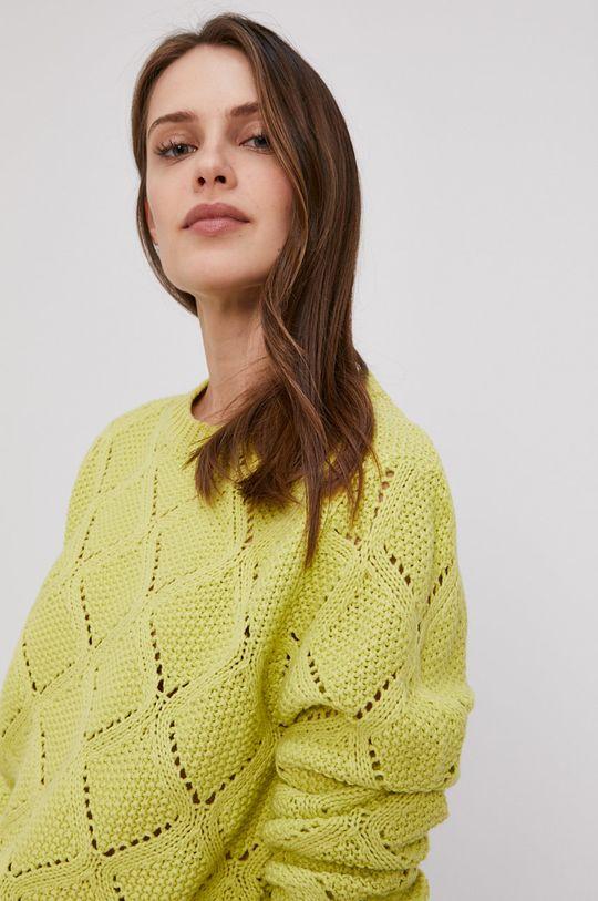 żółto - zielony Lee Cooper - Sweter Damski