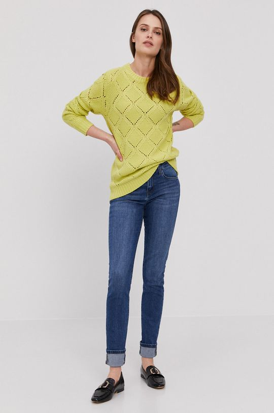 Lee Cooper - Sweter żółto - zielony