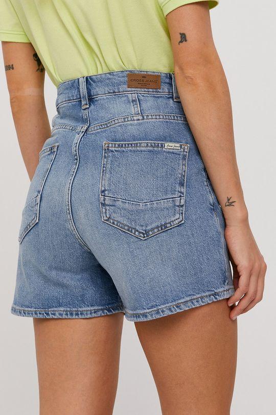 Cross Jeans - Rifľové krátke nohavice  99% Bavlna, 1% Elastan