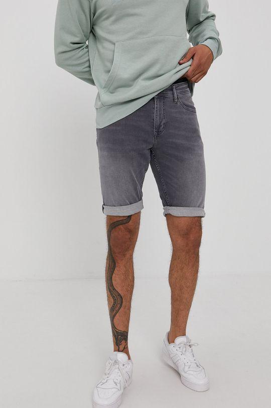 šedá Cross Jeans - Kraťasy Pánský