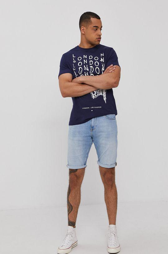 Cross Jeans - Rifľové krátke nohavice modrá