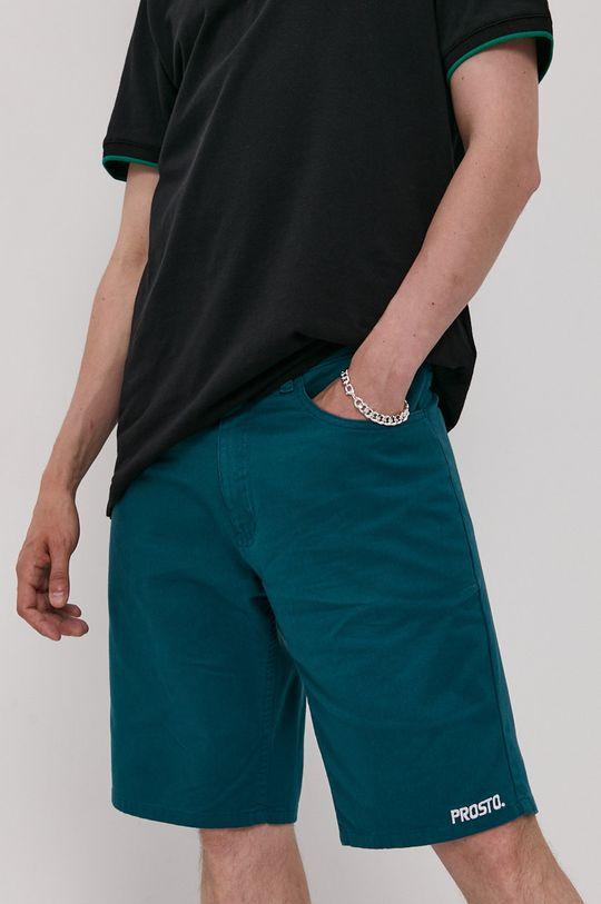 ciemny zielony Prosto - Szorty Męski