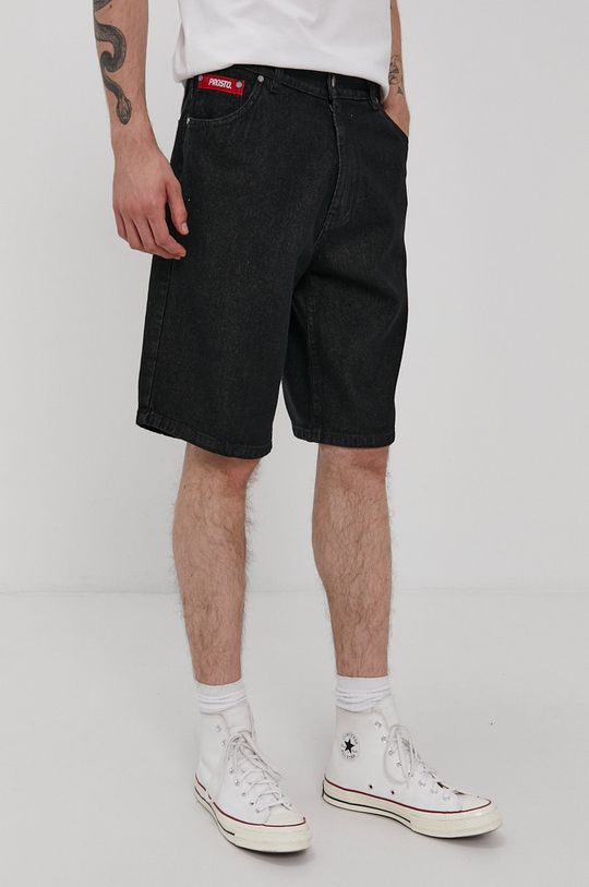 čierna Prosto - Rifľové krátke nohavice Pánsky