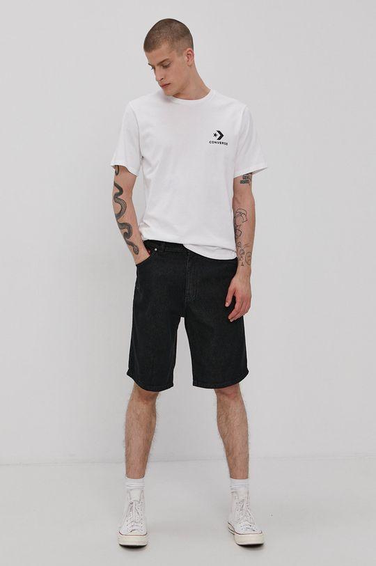 Prosto - Rifľové krátke nohavice čierna