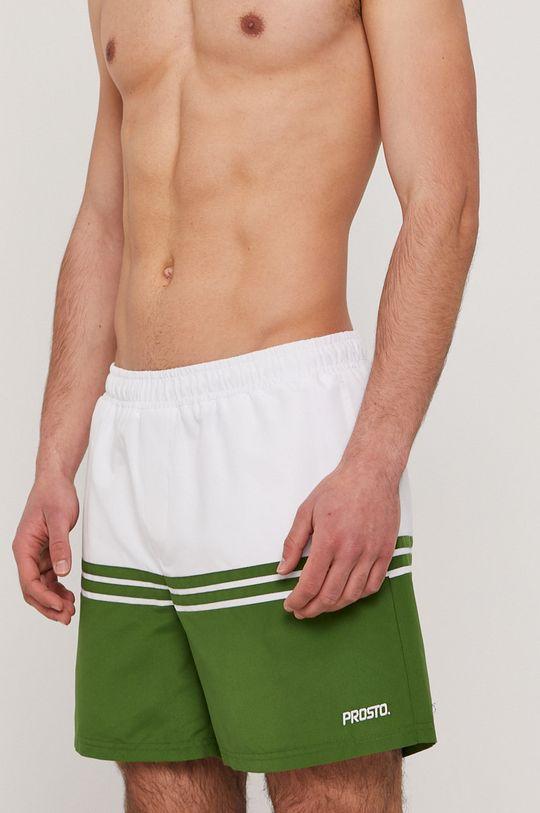 tmavě zelená Prosto - Plavkové šortky Pánský