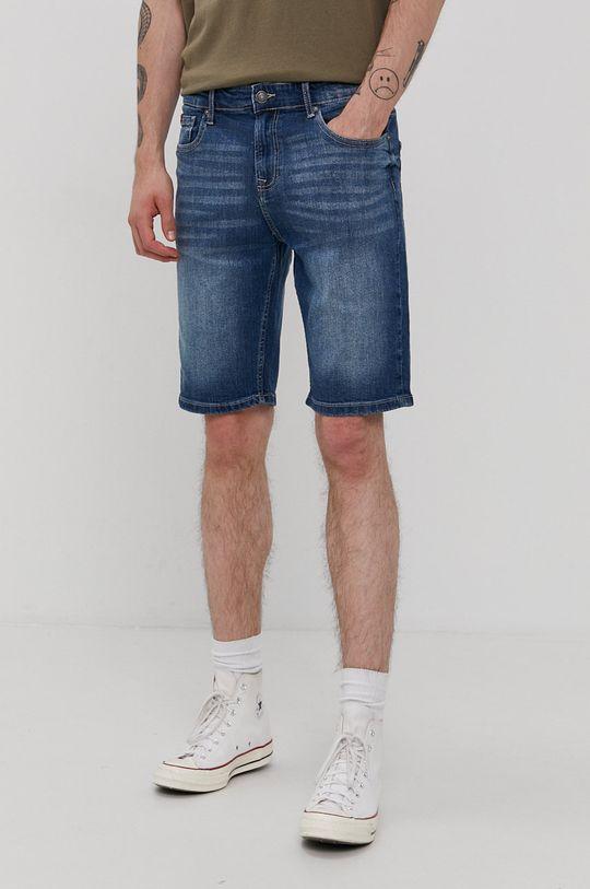 granatowy Lee Cooper - Szorty jeansowe Męski