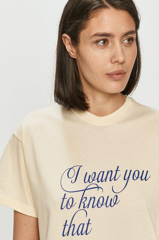 kremowy Local Heroes - T-shirt