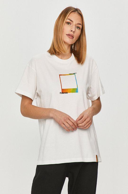 biały Local Heroes - T-shirt x Polaroid Damski