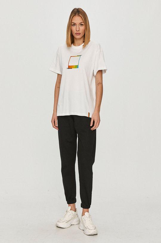 Local Heroes - T-shirt x Polaroid biały