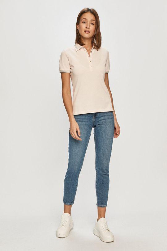 Geox - T-shirt pastelowy różowy