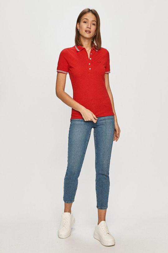Geox - Tričko sýtočervená