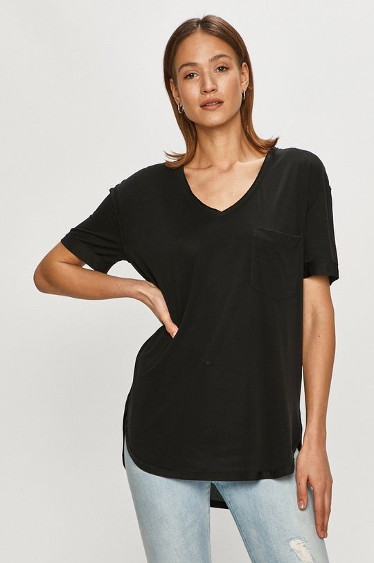 czarny Silvian Heach - T-shirt Damski