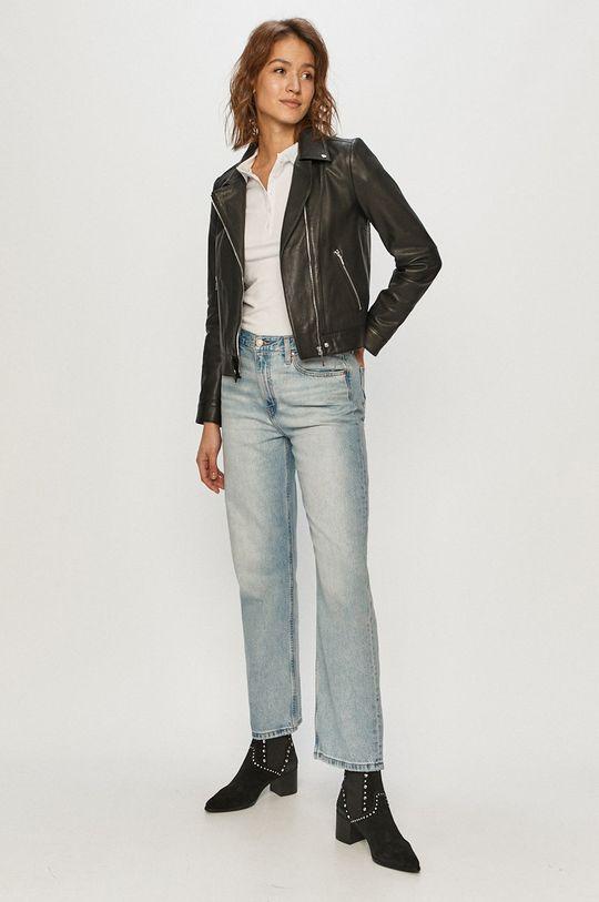 Cross Jeans - Tricou Polo alb