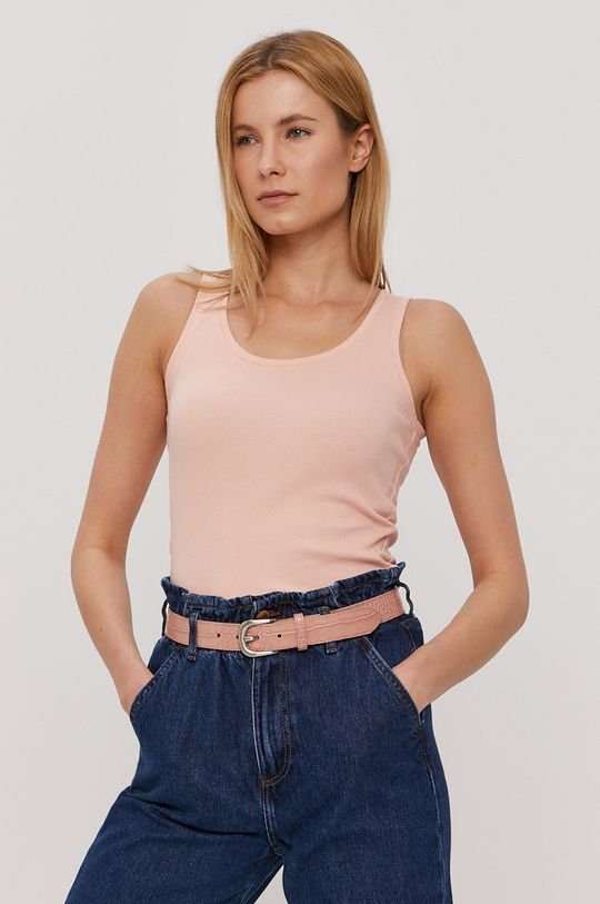pastelowy różowy Cross Jeans - Top Damski