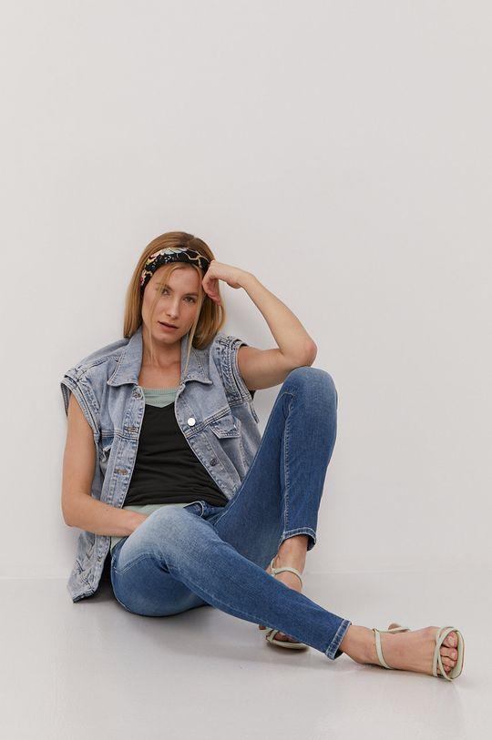 Cross Jeans - Top bledá tyrkysová