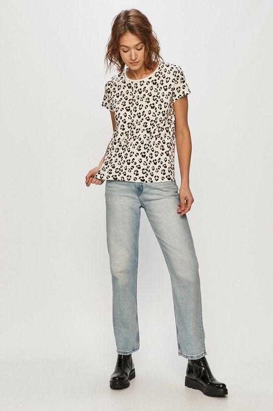 Cross Jeans - Tričko biela
