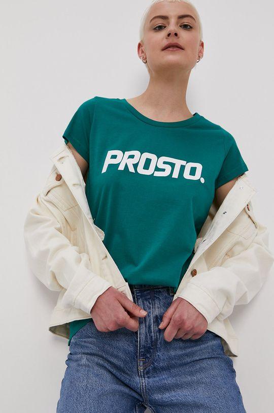 ciemny zielony Prosto - T-shirt Damski