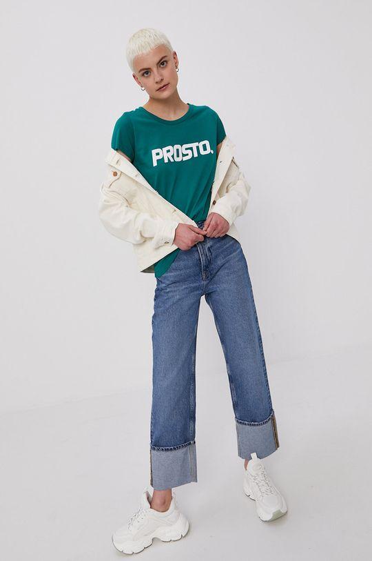 Prosto - T-shirt ciemny zielony