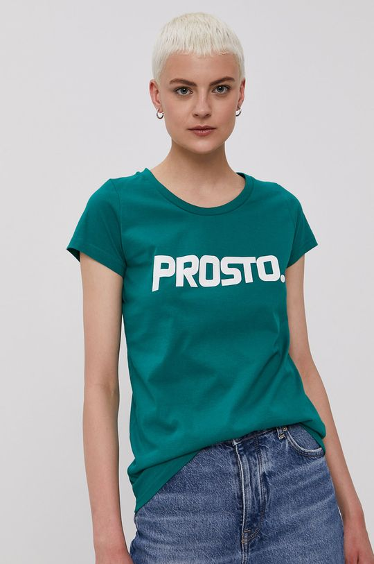 ciemny zielony Prosto - T-shirt