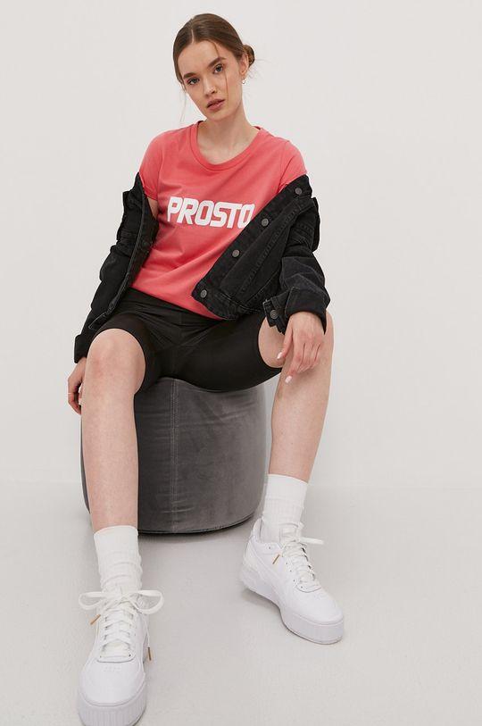 Prosto - T-shirt różowy