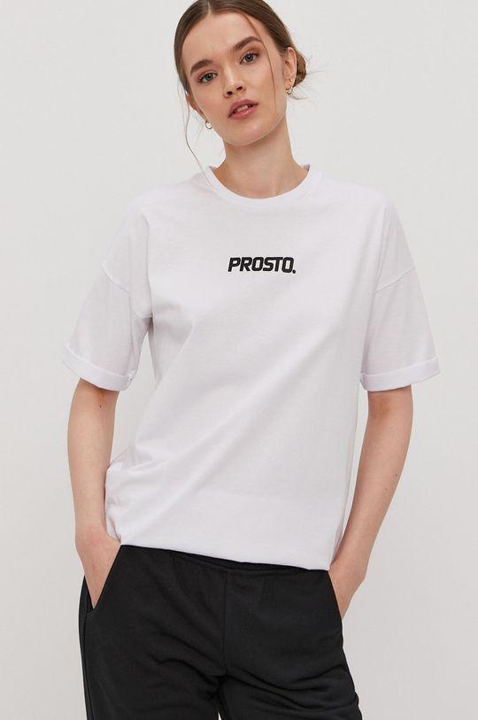 biały Prosto - T-shirt Damski