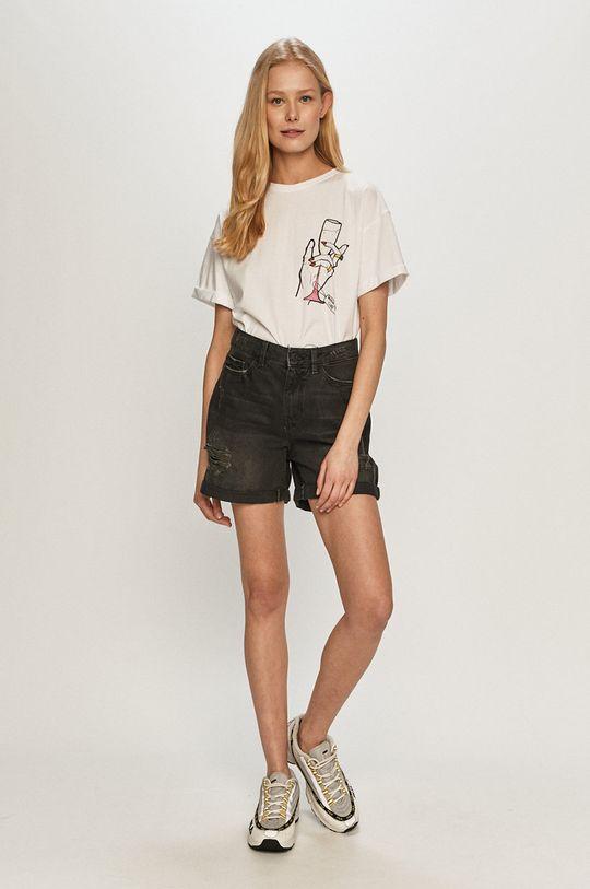 Dash My Buttons - T-shirt Broken Heart Cure biały