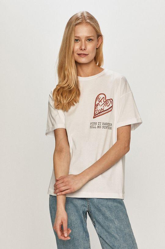 biały Dash My Buttons - T-shirt Heart Button Damski