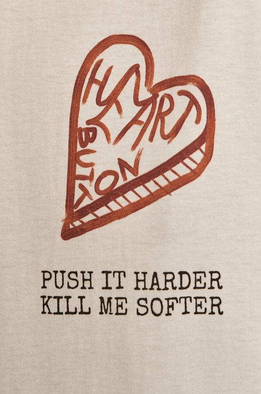 Dash My Buttons - T-shirt Heart Button Damski