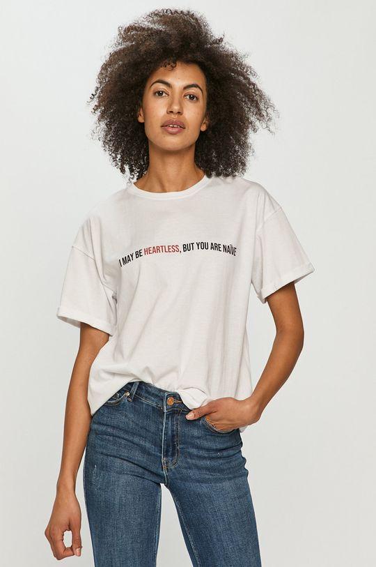 biały Dash My Buttons - T-shirt Naive Damski