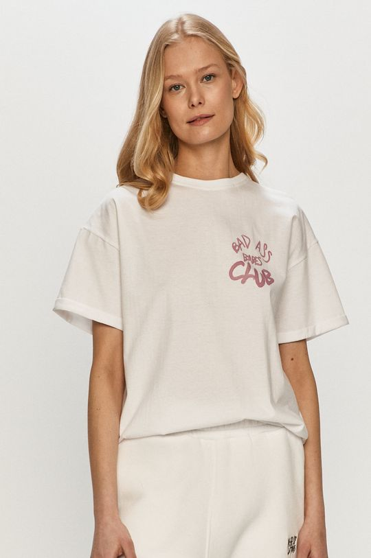 biały Dash My Buttons - T-shirt Bad Ass Babes Damski