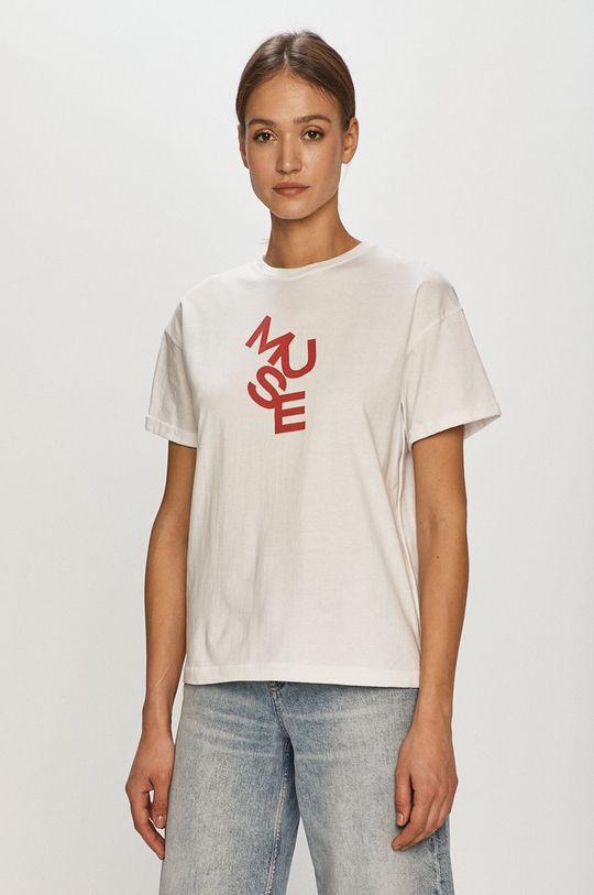 biały Dash My Buttons - T-shirt Muse Damski