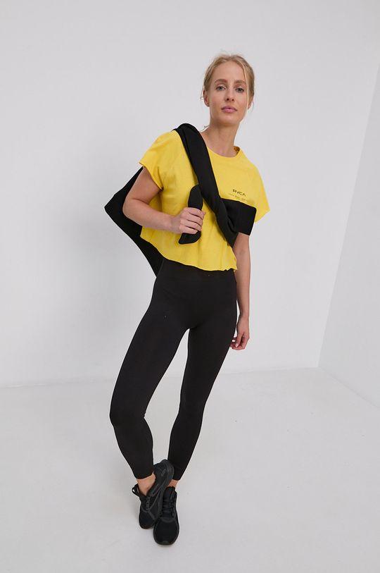 RVCA - T-shirt bawełniany żółty