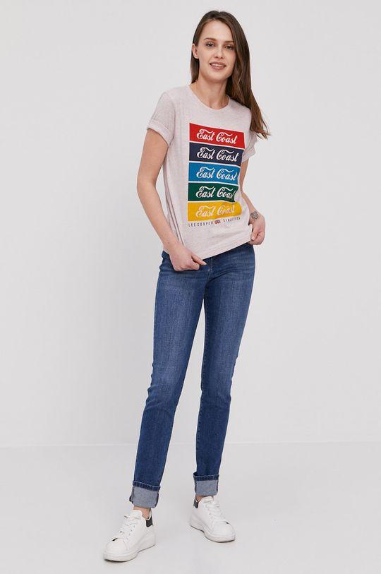Lee Cooper - T-shirt różowy