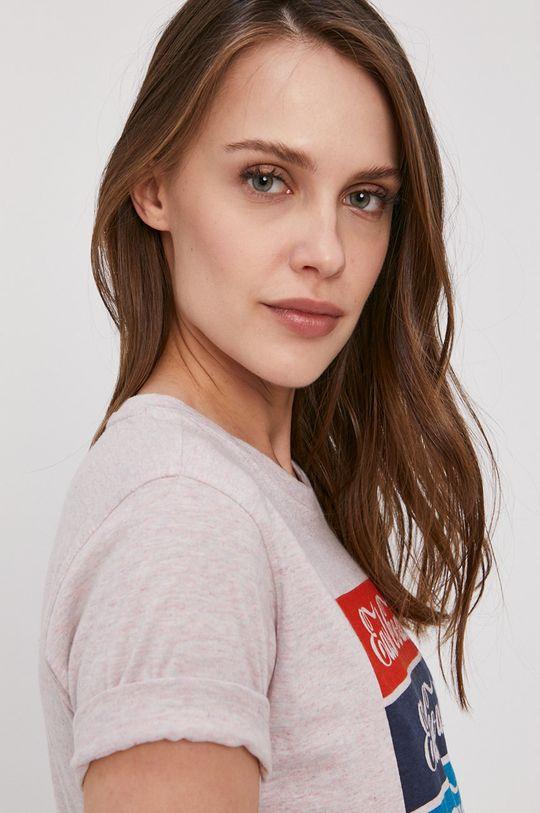 różowy Lee Cooper - T-shirt
