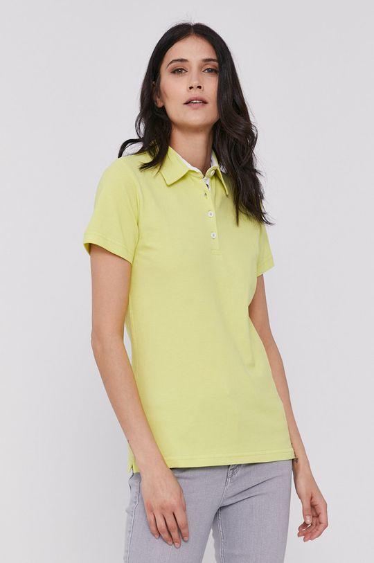 żółto - zielony Lee Cooper - Polo Damski