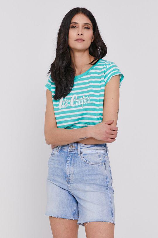 turkusowy Lee Cooper - T-shirt Damski