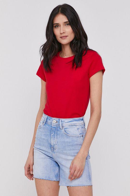 czerwony Lee Cooper - T-shirt Damski