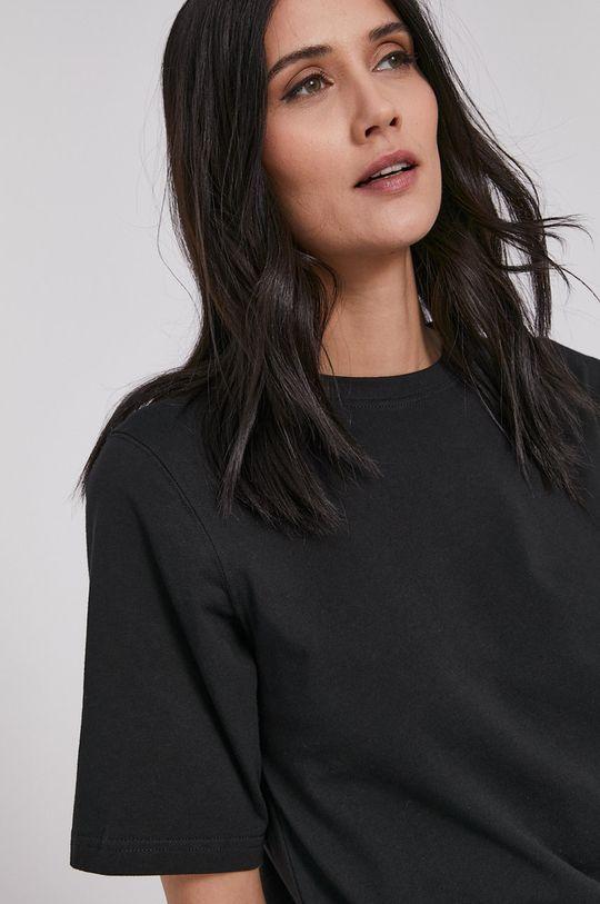 czarny Lee Cooper - T-shirt Damski