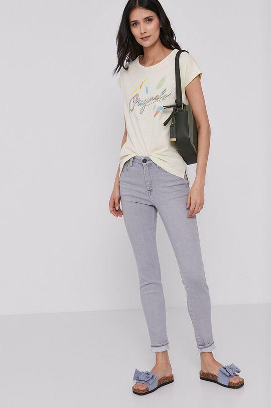 Lee Cooper - T-shirt kremowy