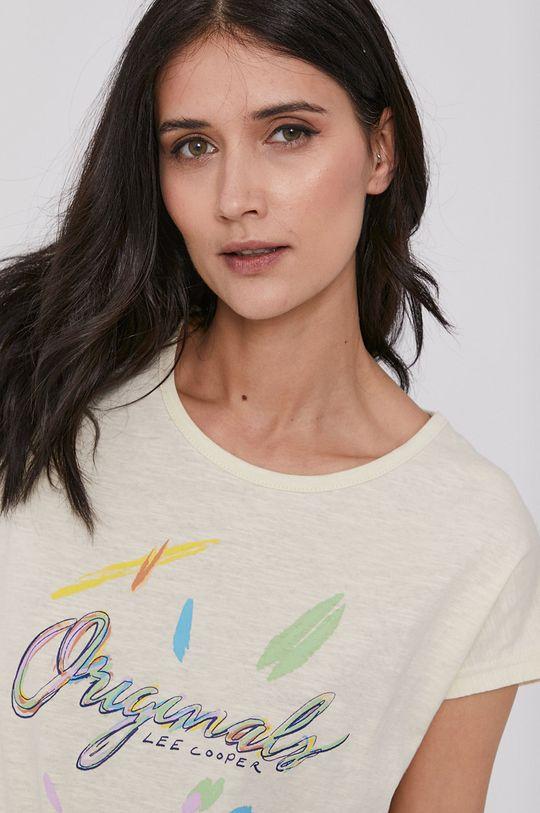 kremowy Lee Cooper - T-shirt