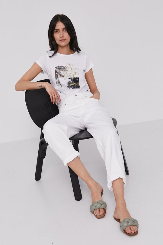 biały Lee Cooper - T-shirt Damski